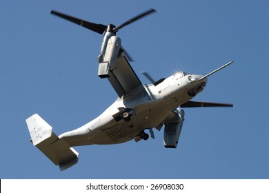FAIRFORD, UNITED KINGDOM - JULY 15: The MV-22 Osprey during its first demonstration in Europe at the Royal International Air Tattoo July 15 and 16, 2006 in Fairford.
