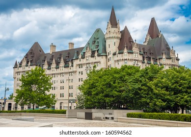 The Fairmont Chateau Laurier is a grand hotel in downtown Ottawa, Ontario, designed in the French Gothic Chateauesque style adjacent Parliament buildings