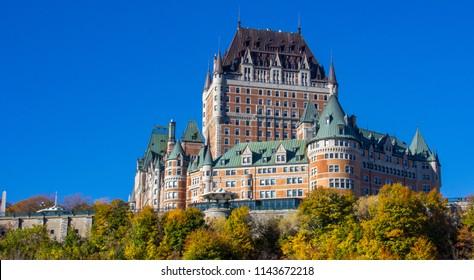 Fairmont Le Chateau Frontenac in Quebec City, Canada