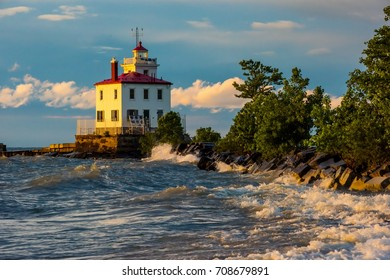 Fairport Harbor West Breakwater Lighthouse at Sunset