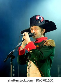 Fairport's Cropredy Convention - August 10th 2017: Neil Hannon performing with The Divine Comedy at Fairport Convention's Cropredy Festival, Oxfordshire, August 10 2017, Banbury, Oxfordshire UK