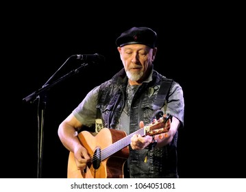 Fairport's Cropredy Convention - August 11th 2017: Richard Thompson performing at Fairport Convention's Cropredy Festival, Oxfordshire, August 11 2017, Banbury, Oxfordshire UK