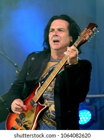 Fairport's Cropredy Convention - August 12th 2017: Steve Hogarth with Marillion performing at Fairport Convention's Cropredy Festival, Oxfordshire, August 12 2017, Banbury, Oxfordshire UK