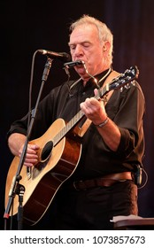 Fairport's Cropredy Convention - August 13th 2016: British singer songwriter Ralph McTell  performing at Fairport Convention's Cropredy Festival, Oxfordshire, August 13 2016, Banbury, Oxfordshire UK
