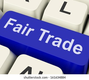 Fairtrade Key Showing Fair Trade Product Or Products