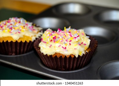 Fairy cakes fresh out of the oven