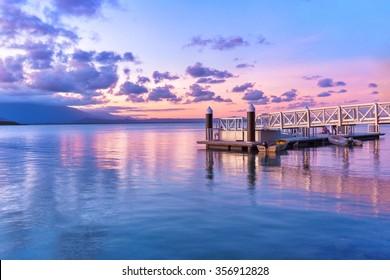 Fairy floss coloured sky over Port Douglas, Queensland Australia
