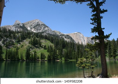 Fairy Lake and Sacagawea Peak in the Bridger Mountains of Montana