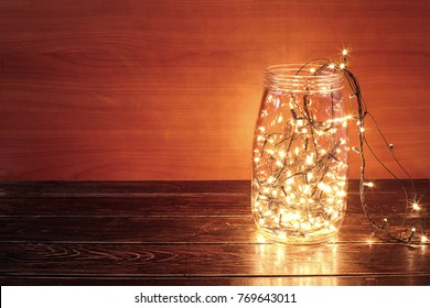 Fairy Lights in Glass Jar