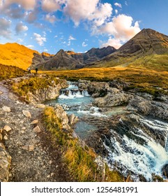 The Fairy Pools in autumn, Glen Brittle, Skye, Scotland - UNited Kingdom