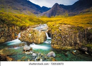 The Fairy Pools Glen brittle Isle of Skye in Scotland.