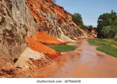Fairy Stream - Red Canyon between Phan Thiet and Mui Ne. Vietnam