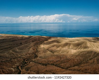Fairy Tale Canyon, rock formations on the Issyk-Kul lake at Kyrgyzstan