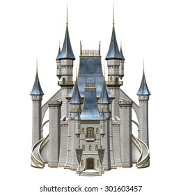 Fairy Tale Castle - 3D Rendered Fantasy Building