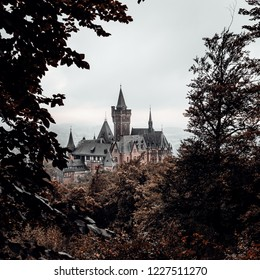 The fairy tale castle of Wernigerode, square