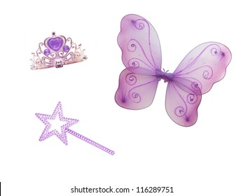 Fairy wings isolated against a wings isolated against a white background