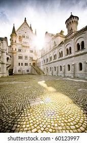 Fairytale castle Neuschwanstein in Bavaria.