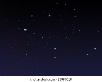 fairytale night sky