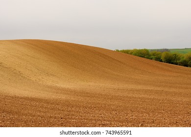 Fairytale spring landscape. Moravian Tuscany, south Moravia, Czech Republic Europe
