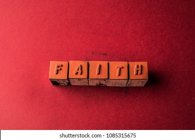 Faith headline made by letter printers