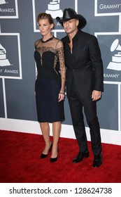 Faith Hill, Tim McGraw at the 55th Annual GRAMMY Awards, Staples Center, Los Angeles, CA 02-10-13