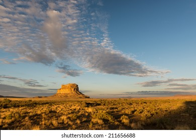 Fajada Butte in Chaco Canyon at the Chaco Culture National Historical Park in New Mexico