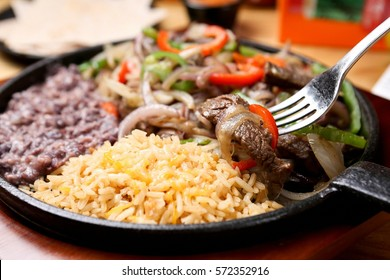 Fajita with delicious sauce and fresh ingredients