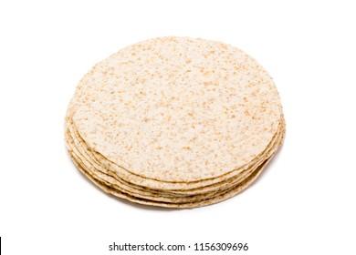 fajitas to make burritos on white background