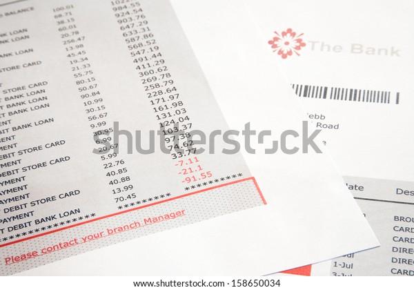 Fake Bank Statement Bank Logo Stock Photo Edit Now 158650034