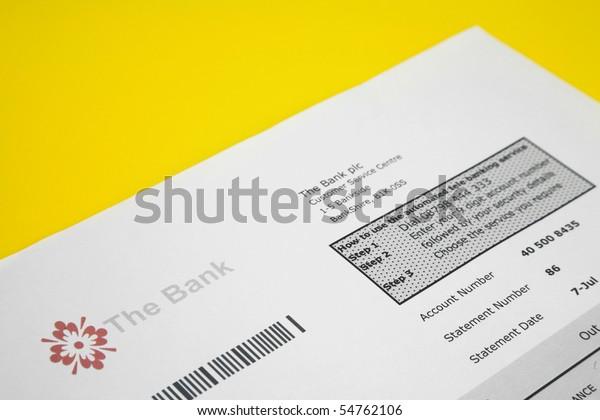 Fake Bank Statement On Yellow Background Stock Photo Edit