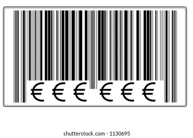 """Fake Bar Code with text """"€ € €"""" #7"""