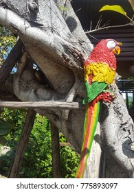 Fake bird on the tree