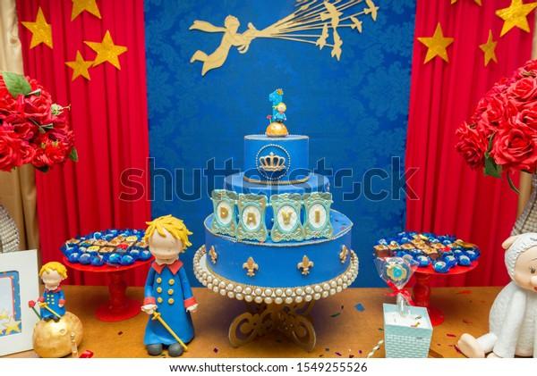 Fabulous Fake Blue Birthday Cake Crown On Stock Photo Edit Now 1549255526 Personalised Birthday Cards Fashionlily Jamesorg