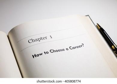 fake book. how to choose a career?