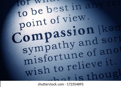 Fake Dictionary, Dictionary definition of compassion.