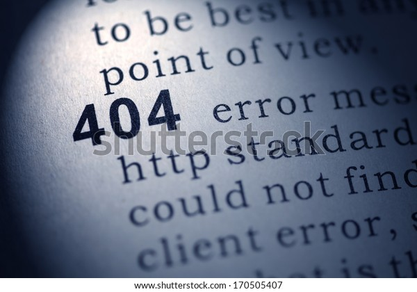 Fake Dictionary, Dictionary definition of the word 404.