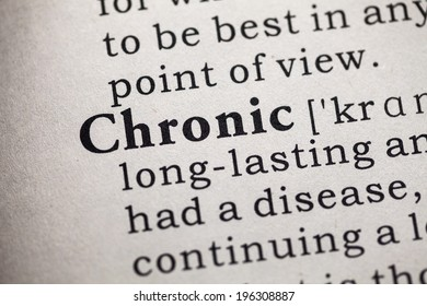Fake Dictionary, Dictionary definition of the word Chronic.