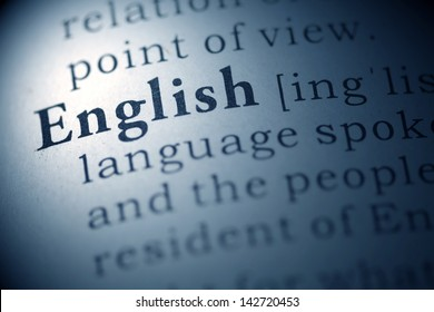 Fake Dictionary, Dictionary definition of the word english.