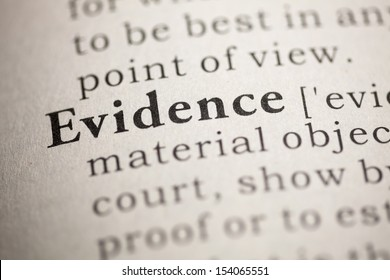 Fake Dictionary, Dictionary definition of the word Evidence.