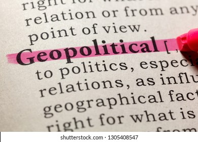 Fake Dictionary, Dictionary definition of the word geopolitical. including key descriptive words.