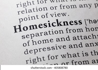Fake Dictionary, Dictionary definition of the word homesickness.