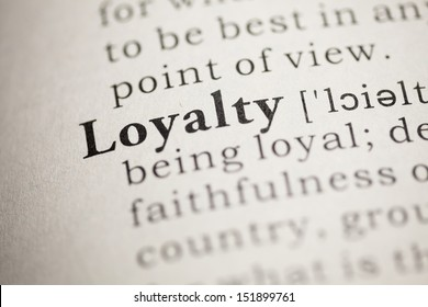 Fake Dictionary, Dictionary definition of the word Loyalty.