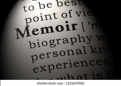 Fake Dictionary, Dictionary definition of the word memoir . including key descriptive words.