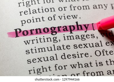 Fake Dictionary, Dictionary definition of the word pornography. including key descriptive words.