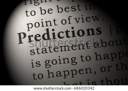 Fake Dictionary Dictionary Definition Word Predictions Stock Photo