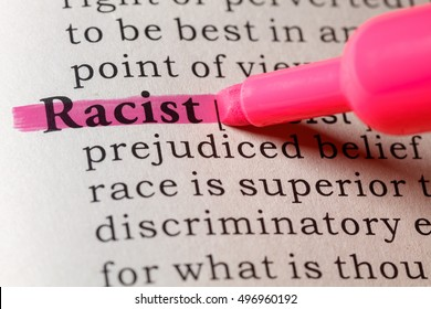 Fake Dictionary, Dictionary definition of the word racist.
