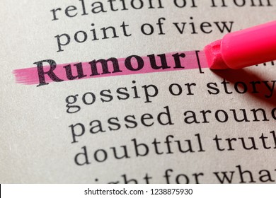 Fake Dictionary, Dictionary definition of the word rumour . including key descriptive words.