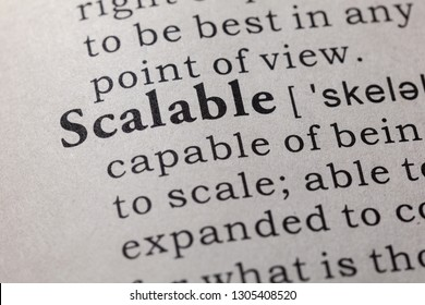 Fake Dictionary, Dictionary definition of the word scalable. including key descriptive words.
