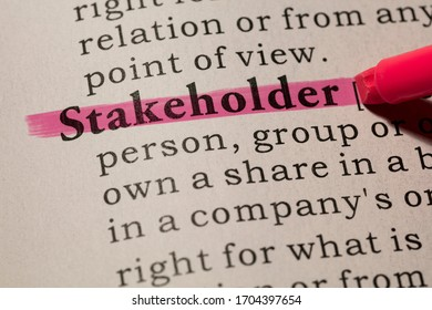 Fake Dictionary, Dictionary definition of word stakeholder.