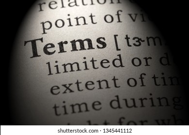 Fake Dictionary, Dictionary definition of the word terms. including key descriptive words.